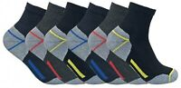 Mens Ultimate Heavy Duty Cushion Cotton Steel Toe Boot Ankle Quarter Work Socks