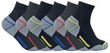 Mens Ultimate Heavy Duty Cushion Cotton Steel Toe Boot Ankle Quarter Work Socks