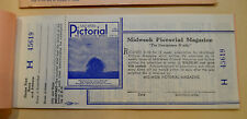 Vintage Mid-Week Pictorial Magazine Cash Prize Contest Ticket Stub Unused MINT