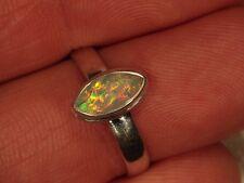 SZ 7.5 Faceted Opal Ring 925 Sterling Silver Ethiopian Welo Fire Opal 5 6 8 9 10
