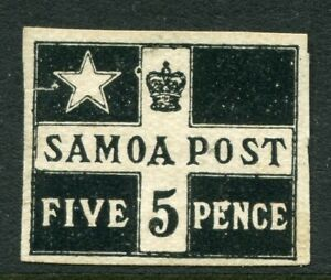 SAMOA....  1898-1900  5d red plate proof  mng