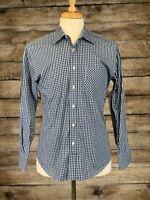 Billy Reid Blue Check Shirt Small Standard Cut
