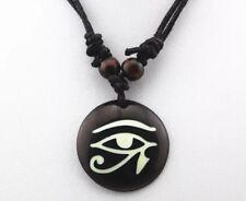 "Eye of Horus Necklace - Yak Bone Resin  -  1.25"" - Adjustable!"