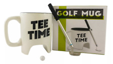 NPW Golf Mug Gift Set Tee Time Cup Club Pen Ball Coffee Tea Gift