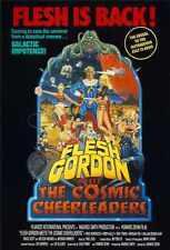 Flesh Gordon Meets The Cosmic Cheerleaders Poster 01 Metal Sign A4 12x8 Aluminiu