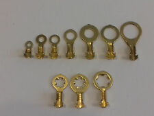 NON INSULATED BRASS RING EARTH CRIMP TERMINALS 2mm 3mm 4mm 5mm 6mm 8mm 10mm