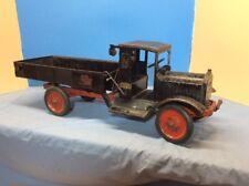 Keystone Packard #62 Hand Crank Hydraulic Dump Truck Pressed Steel Toy Very Rare