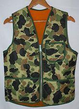 vintage 60s 70s camo hunitng vest small