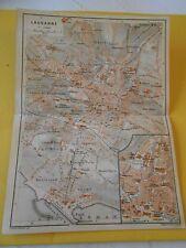 Plan de Lausanne en Suisse 1920