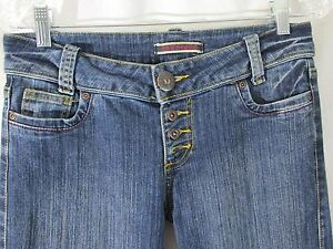 Women's, Juniors, Size 5 Younique 30x31 Stretch Boot Button Fly Denim Jeans, #12