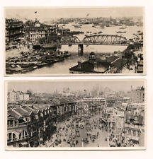 Ten Vintage 1930's Small Panoramic Photographs of Shanghai