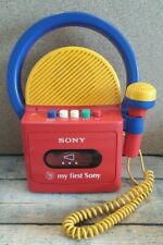 Vintage My First Sony TCM 4300 Cassette Recorder with microphone