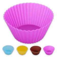 18x Muffin Silikon Back Form Förmchen Cupcake Backen Küchenhelfer 4farbig