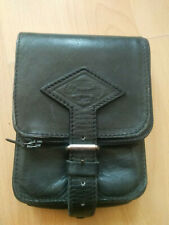 Gürteltasche Reisetasche Hüfttasche Leder Vintage Farbe Schwarz mit Schlaufe