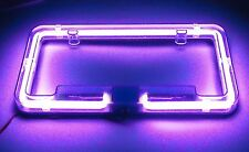 Neon Light Glow License Plate Frame with choices of  blue, aqua, amber, purple