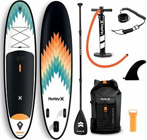 """Hurley Advantage 10' 6"""" Outsider Stand Up Inflatable Paddle Board With Kit"""