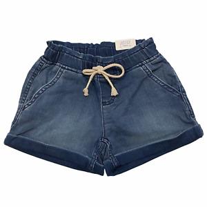 NWT JUSTICE Girl's Pull-On Denim Soft & Stretchy Shorts Sz 6- 8 Elastic Waist