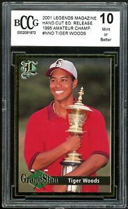 2001 Legends Magazine Amateur Champ #nno Tiger Woods Rookie BGS BCCG 10 Mint+