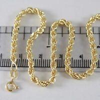 Armband Gelbgold 750 18K Seil Geflochten 19 CM X 3.5 MM Made IN Italien