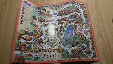 Vintage Knotts Berry Farm Official Souvenir Map Circa 1988  April 23 & 24