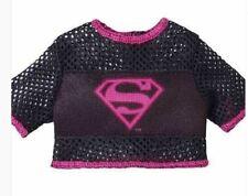 Barbie Super Hero Black & Pink Super Girl Top for Barbie doll