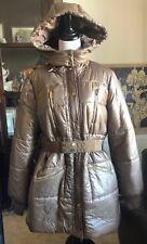 TORY BURCH SALIDA Jacket Removable Belt & Hood MUSK Puffer Coat XL-NWT-FREESHIP