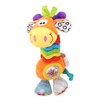 Baby Soft Hand Bell Giraffe Plush Doll Handle Rattle Early Education Toys Z