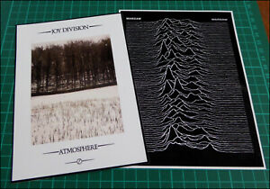 JOY DIVISION / WARSAW 2 x Large Glossy Vinyl Stickers, Atmosphere, Warsaw