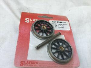SLATERS S9845ST GAUGE 1 (10mm)  1 PACK OF 10 SPOKE TRAILING WHEELS (LMS/BR)