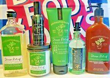 New Bath & Body Works Aromatherapy Stress Relief Cream Pillow Mist or Foam Wash