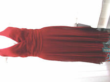 """""""south"""" ladies long dark red evening dress  sz 10 with shawl"""