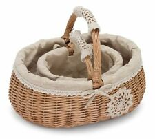 Vintage/Retro Decorative Baskets with Handle