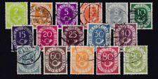 Gestempelte Briefmarken aus der BRD (1948-1954) mit Posthorn