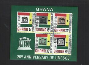 Ghana sc#268a (1966) Souvenir Sheet MLH