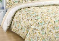 Queen Size Bed Cotton Sateen Quilt Doona Duvet Cover With Pillowcases Set
