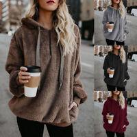 Women Zipper Hoodie Sweatshirt Tops Coat Long Sleeve Jumper Sweater Pullover