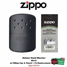 Zippo Hand Warmer, Black, 12-Hour + Replacement Burner #40334_44003