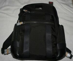 Tumi Bravo Nathan Backpack Black Nylon-Polyester Lining NEW With Tags