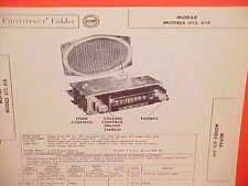 1955 DODGE CORONET ROYAL CONVERTIBLE PLYMOUTH BELVEDERE AM RADIO SERVICE MANUAL
