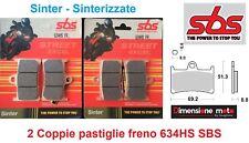 634HS - 2 CP Pastiglie Freno Ant. SBS Sinter per YAMAHA XT-Z 1200 Super Tenere