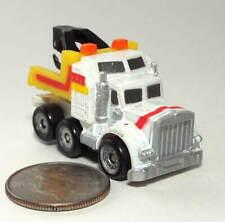 Small Micro Machine Plastic 6X6 Tow Truck White