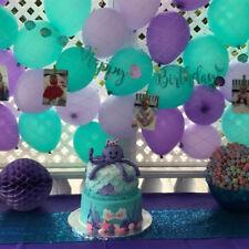 Mermaid Seashell Happy Birthday Giltter Banner Bunting Garland Party Decoration