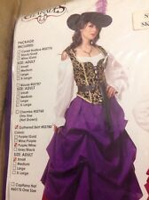 Charades Village Wench Costume Adult Small Gathered Skirt Marie Antoinette New