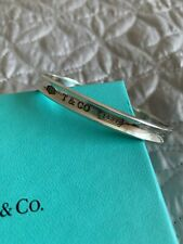 Tiffany & Co Silver Concave Bangle Bracelet- Boxed and Pouch