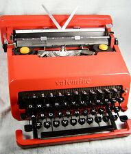 Original Mid-Century RED Olivetti VALENTINE Typewriter with Case - Working