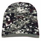 Adult Knitted Beanie Digital Camo Print Hat Headwear Winter Beanie
