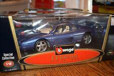 Burago 1989 BLUE Ferrari 348 TB 1:18 Scale Diecast RARE NEW IN BOX