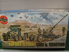 AIRFIX BOFORS GUN & TRACTOR KIT 1:72 LOT VGC. 1:72 BOXED. SOLD AS SEEN