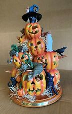 Bradford Exchange Cat-O-Lantern Lighted Halloween Table Decoration