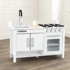 Kidkraft Little Cook Work Station  Play Kitchen | Kids Wooden Toy Kitchen